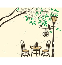 lantern cafe vector image vector image