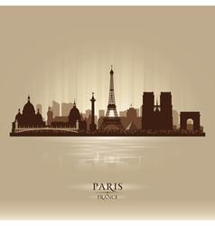 Paris France city skyline silhouette vector image