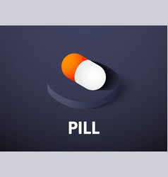 pill isometric icon isolated on color background vector image