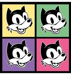 vintage toons four images of retro cartoon vector image vector image