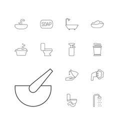 13 bath icons vector