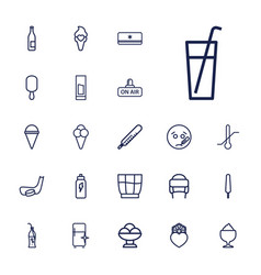 22 cold icons vector