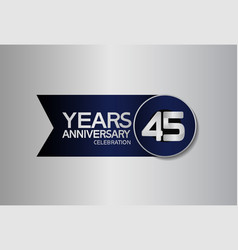 45 years anniversary logo style with circle vector