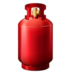 A red gas cylinder vector