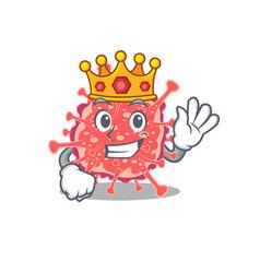 A wise king polyploviricotina mascot design vector