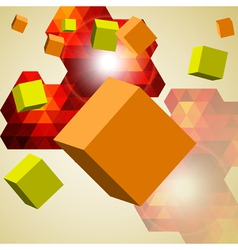 Abstract background of 3d cubes vector image vector image