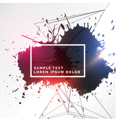 Abstract colorful ink grunge background vector