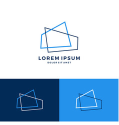 abstract house home roof architect logo vector image
