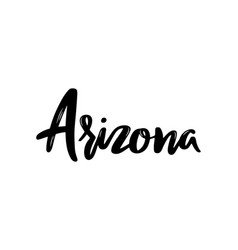 Arizona - hand drawn lettering name of usa state vector