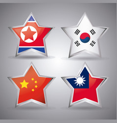 Asian flags design vector