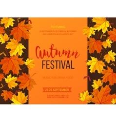 Autumn festival background invitation banner vector