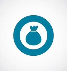 Bag icon bold blue circle border vector