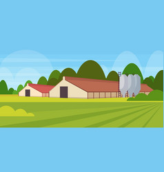 barn building agriculture and farming concept vector image
