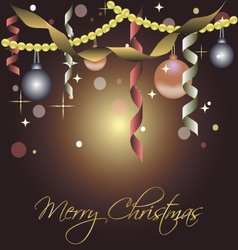 Beautiful card for christmas with balls vector image