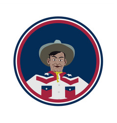 big tex texas mascot vector image