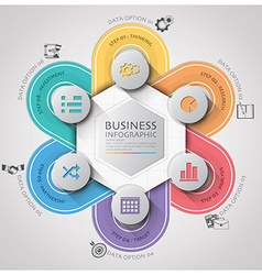 Business Infographic With Weaving Curve Circle vector