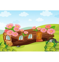 cartoon Log house vector image vector image