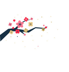 Cherry blossoms are blooming vector