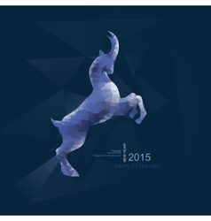 Chinese New Year 2015 goat with blue geometric vector image