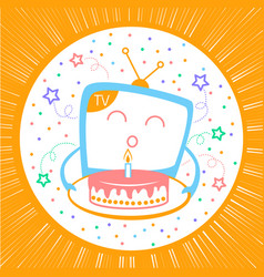 concept of a holiday in television vector image
