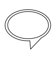 Contour round chat bubble icon vector