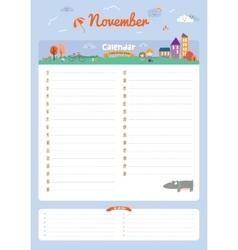 Cute calendar diary 2016 with seasonal themes vector