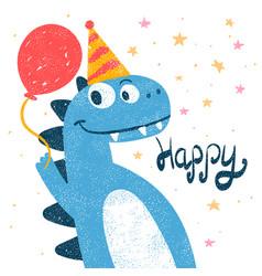 Cute dino dinosaur for print t-shirt vector