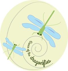 Dance Of The Dragonflies vector