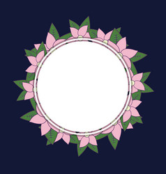 decorative frame with flowers vector image