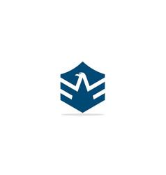 eagle head emblem logo vector image