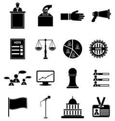 Election icons set vector