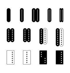 electric guitar pickups set different types vector image