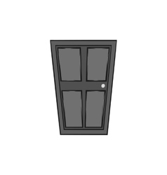 Entrance door icon black monochrome style vector
