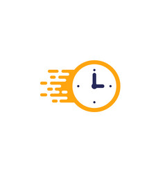 fast time delivery icon stopwatch in motion vector image