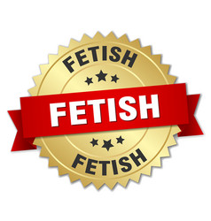 Fetish round isolated gold badge vector
