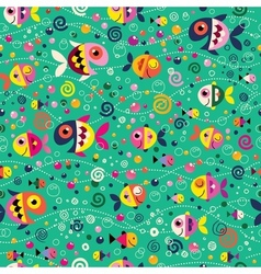 Fish pattern 2 vector