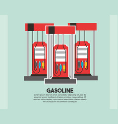 Gasoline station pump refill oil industry vector