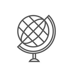 Globe isolated icon in linear style vector