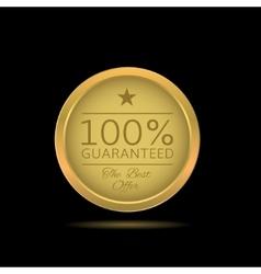 Golden Guaranteed label vector image