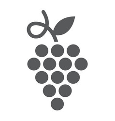 grapes glyph icon fruit and plant vector image