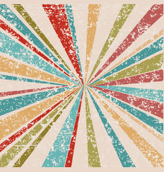 Grunge vintage background with sunburst vector