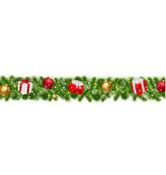 happy christmas border vector image