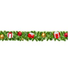 Happy christmas border vector