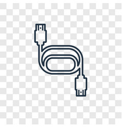 Hdmi concept linear icon isolated on transparent vector