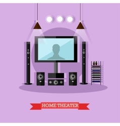 Home theater modern audio vector