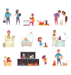 homeless pets set vector image