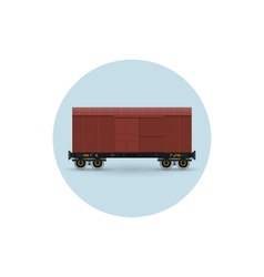 Icon of the covered freight car vector image