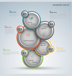 Info graphic with abstract design round pointers vector