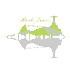 Isolated Rio de Janeiro Skyline vector image