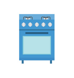 kitchen domestic gas oven icon vector image